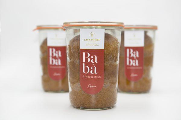 Baba' al rum in vasocottura